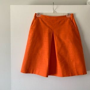 J. Crew front-pleat skirt